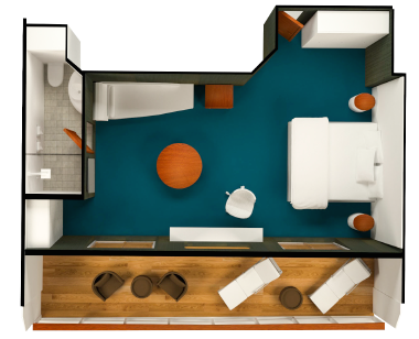 render of Legend Balcony Suite in the Galapagos Legend