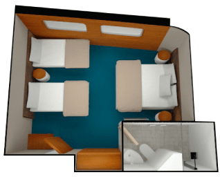 render of Triple Junior Suite in the Galapagos Legend
