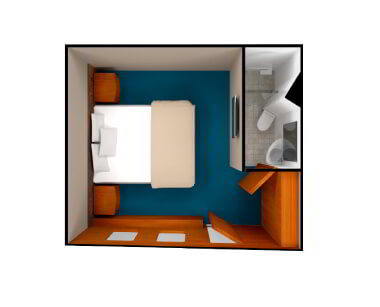 render of Junior Cabin in Coral Yachts