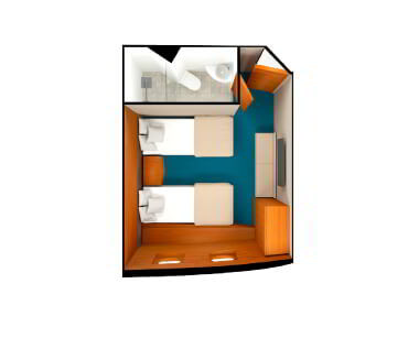 render of Standard Plus Cabin in Coral Yachts