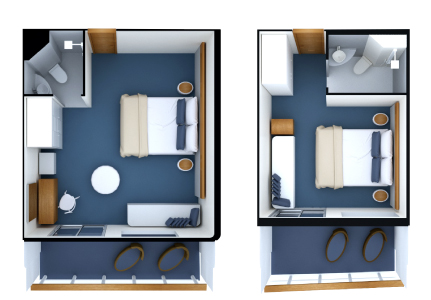 render of Balcony Suite in the Galapagos Legend