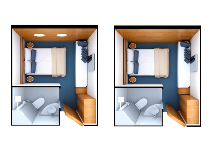 Render of Standard & Standard Plus Cabins in the Galapagos Legend