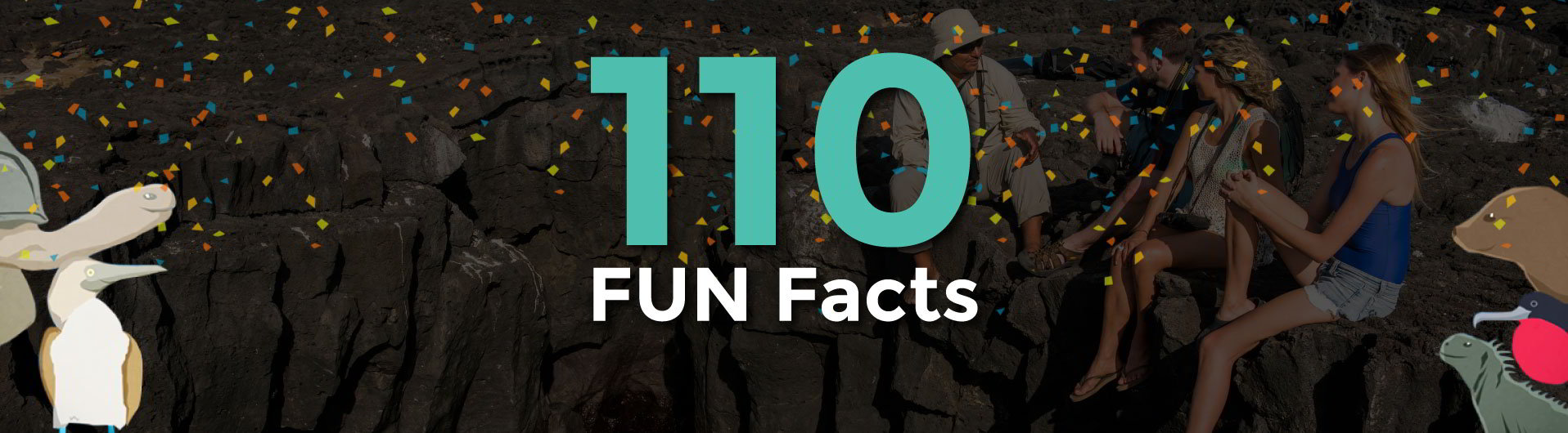 banner for blog section 110 Galapagos fun facts