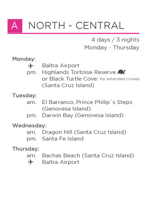 A North Central galapagos legend itinerary for Genovesa landing page