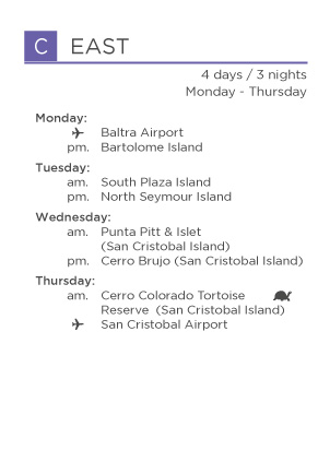 C EAST galapagos legend itinerary for Genovesa landing page