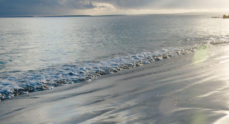 Bachas Beach - Santa Cruz in Galapagos Island beautiful white sand beach