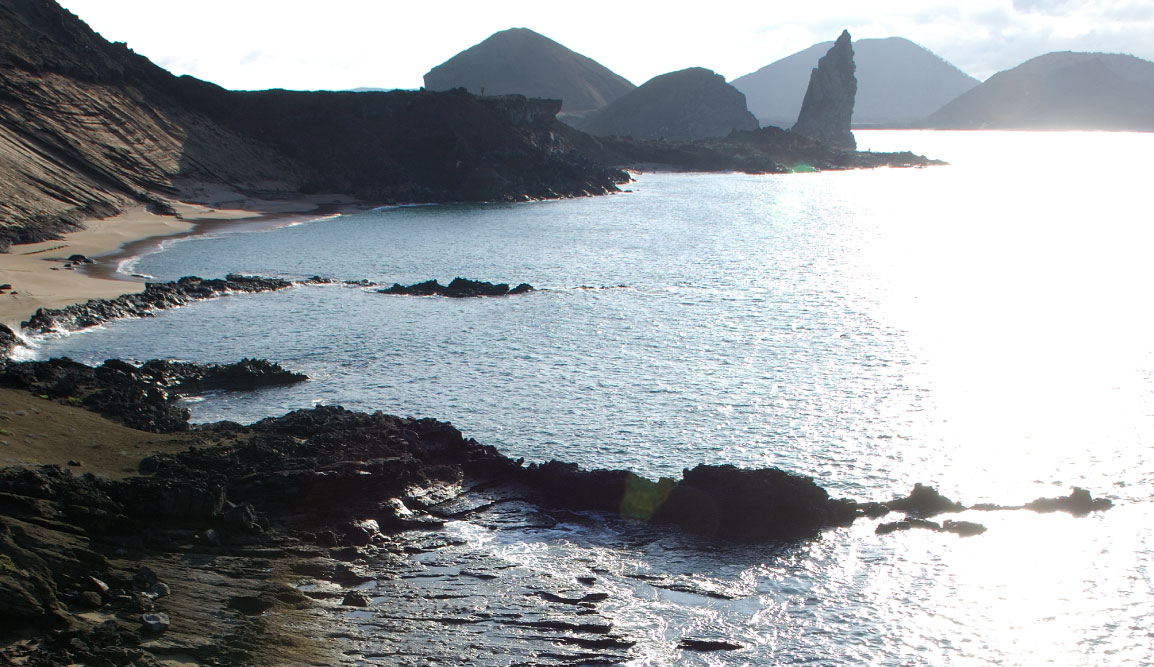 Bartolome in Galapagos Islands landscape, beautiful view of the island