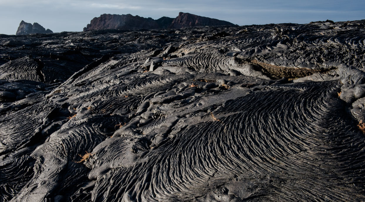 Sullivan bay, solid volcanic lava in the Galapagos Islands