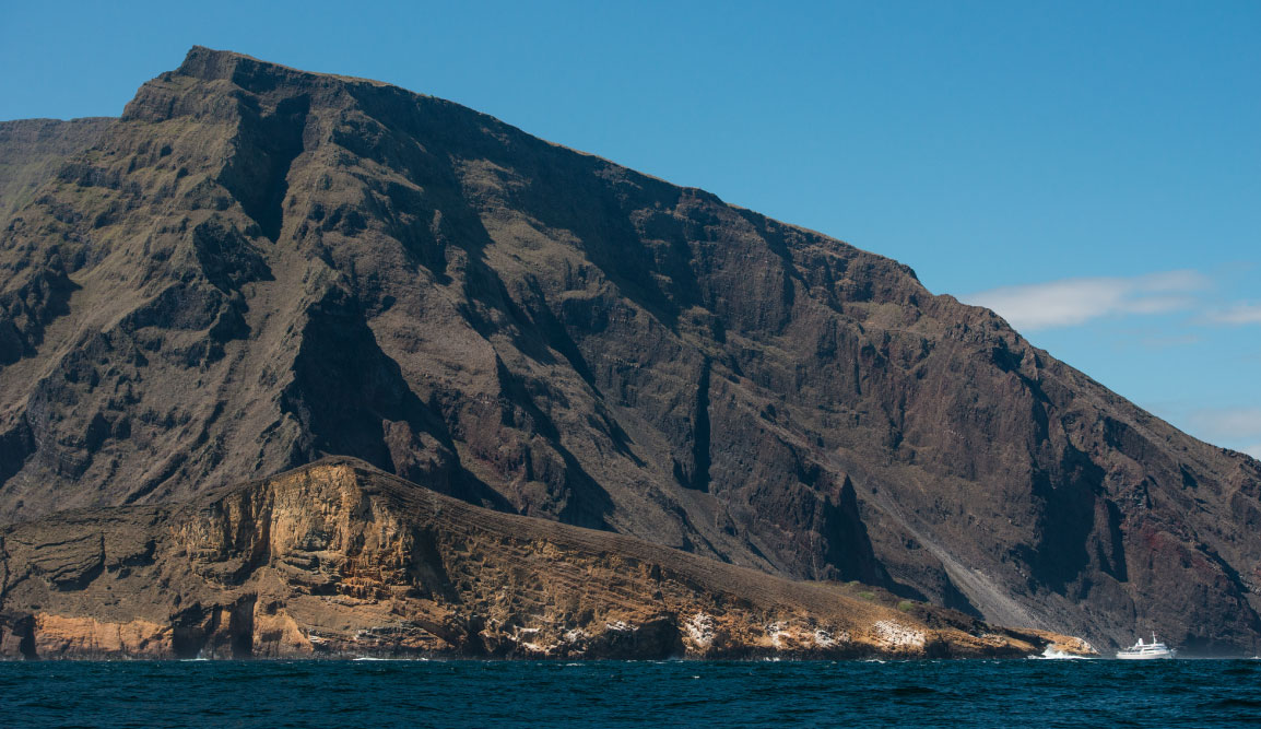 Mountain at Punta Vicente Roca, Galapagos Islands